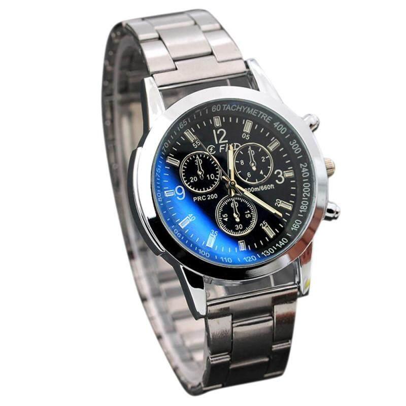 Stainless Steel Sport Quartz Hour Wrist Analog Watch Black Malaysia