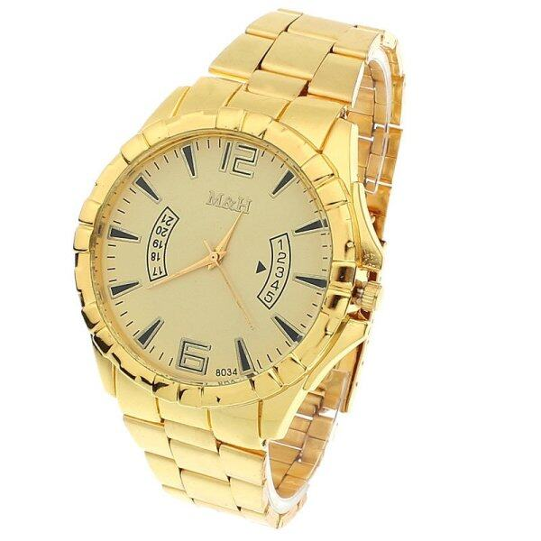 Stainless Steel Sport Quartz Wrist Gold Bracelet Big Dial Watch Gold Malaysia