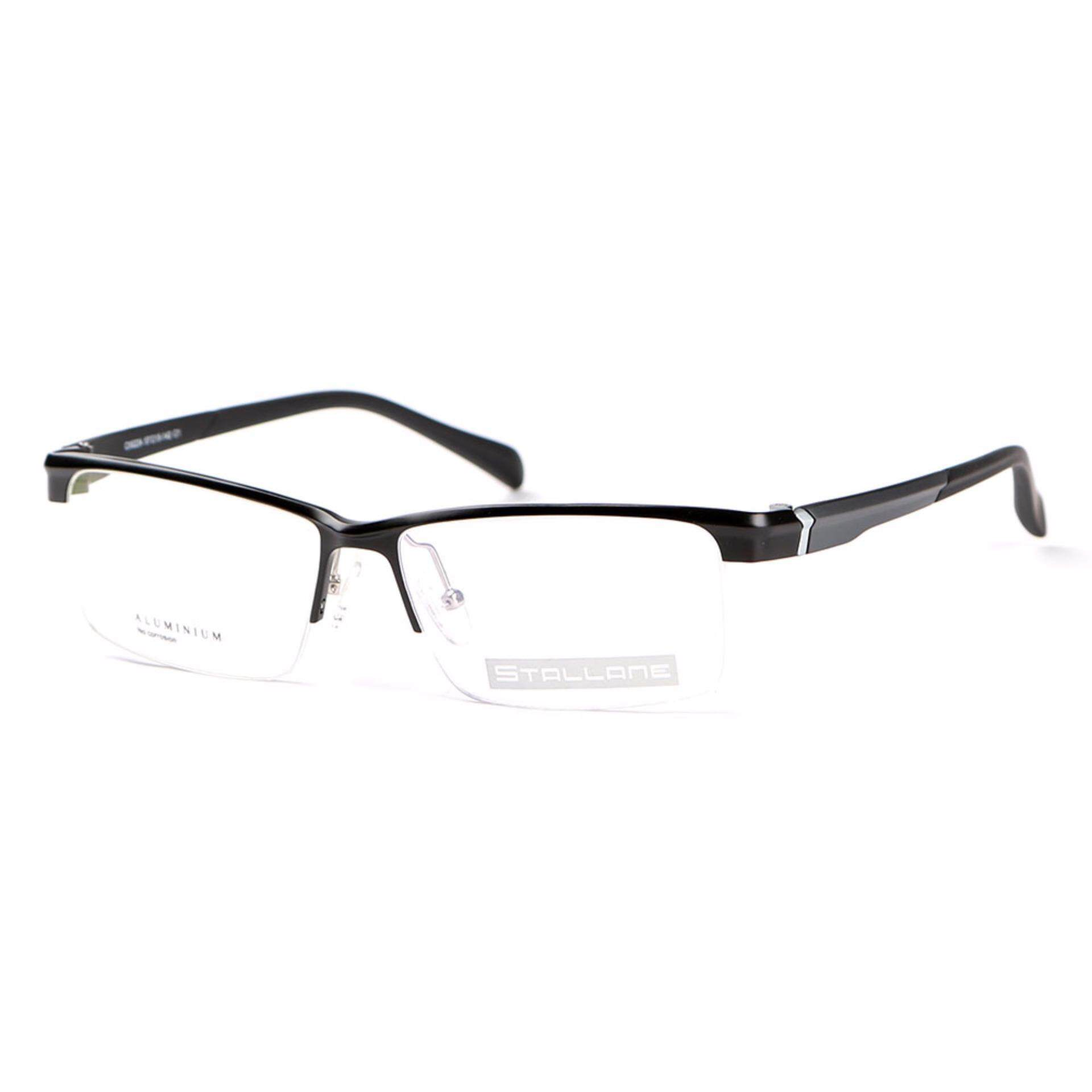 XIEHE CS Stallane Fashion Optical Myopia Frame Business Spectacle Tr90 Legs Glasses The Brow Line Aluminum