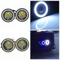 Star Mall 2pcs/lot Car Fog Lights Universal Waterproof 1200lm Angel Eyes Cob Led Drl Driving Lights 12v 30w Auto Fog Lamp White 2.5 Inch By Star Mall.
