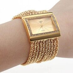 Starmall Women Wristwatch Girl Crystal Bracelet Dress Watch Color:gold Malaysia