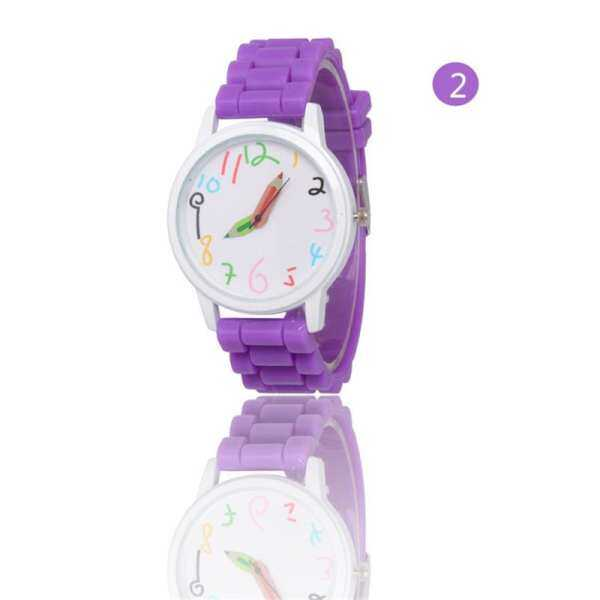 KANGSAIER Cute kid watch Student Fashion Silica Gel Strap Wristwatch Kids Wanch Watches