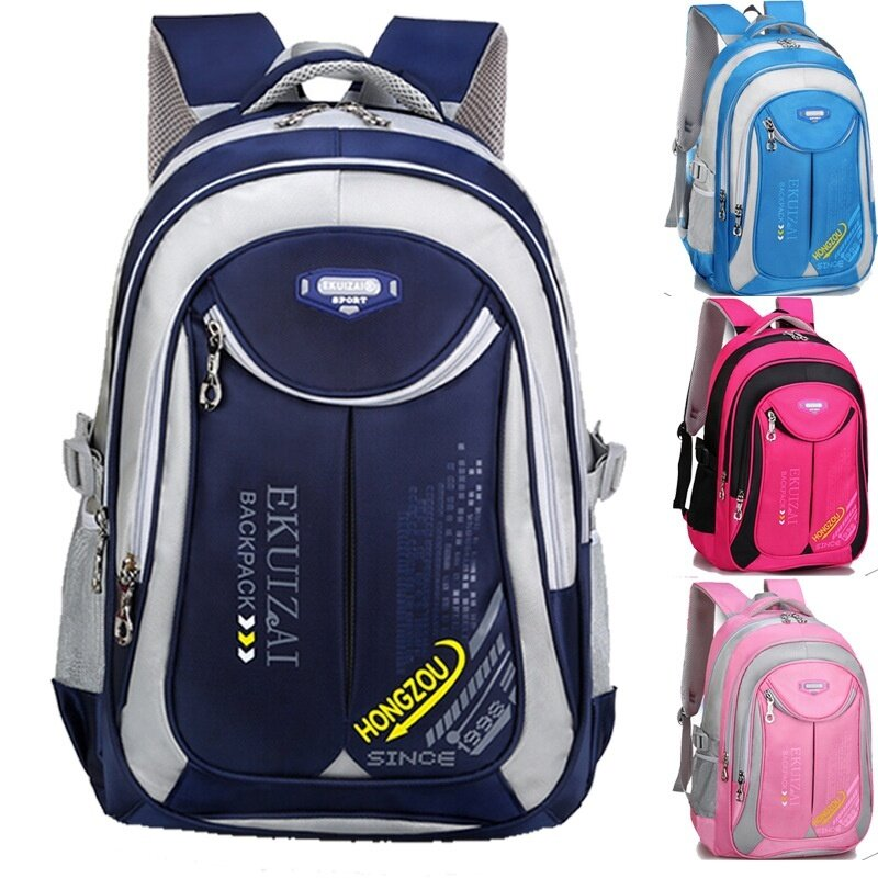 Student Kids School Bag Large Capacity Waterproot Protect The Spine Backpack Back To School ( Sky Blue Large Size )