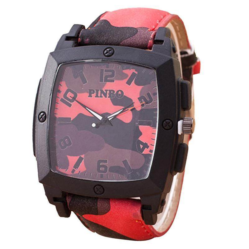 Stylish Camouflage Square Meter Quartz Watch Malaysia