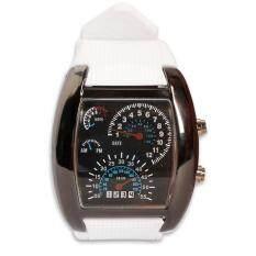 dfdf00582 Stylish Men RPM Turbo Blue Flash LED Sports Car Meter Dial Wrist Watch