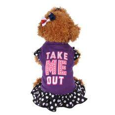Summer Cute Pet Puppy Small Dog Cat Pet Dress Apparel Clothes Fly Sleeve Dress