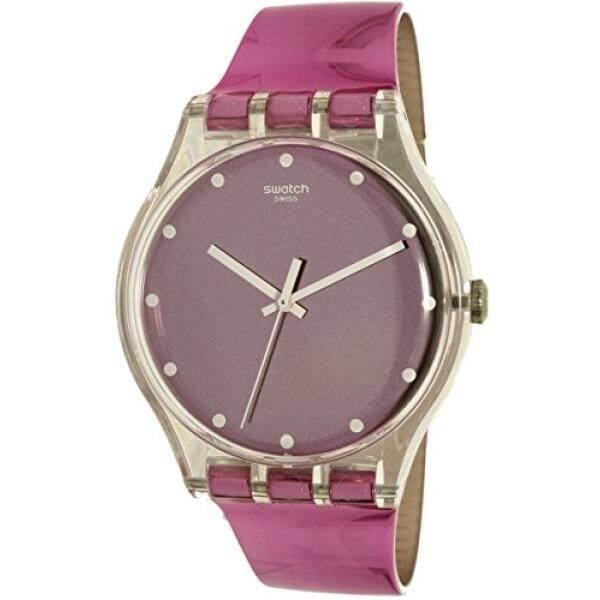Swatch Swatch Womens New Gent SUOK125 Pink Plastic Swiss Quartz Watch - intl