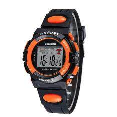 SYNOKE Child Boy Girl Waterproof Sport LED Digital Wrist Watch Orange Malaysia