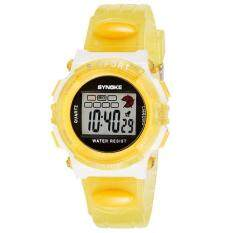 SYNOKE Rubber Digital Led Wristwatch Watch for Girls Kid Children Yellow Malaysia