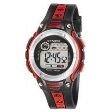 SYNOKE Waterproof Children Boys Digital LED Sports Alarm Date Watch Red