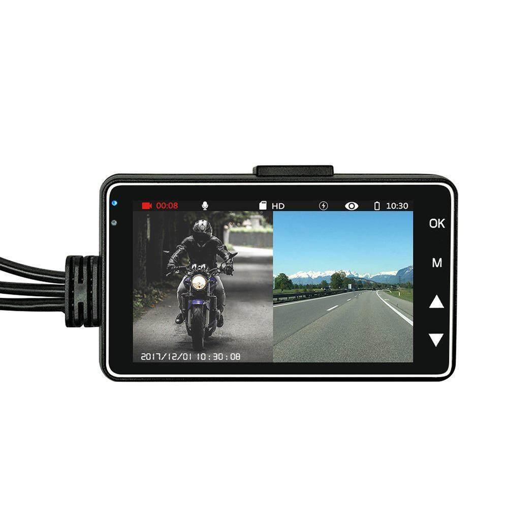 Teekeer ขับขี่กล้องแบบพกพารถจักรยานยนต์กีฬากล้องวิดีโอด้านหน้า HD 3.0 ''จอแอลซีดีหน้าจอแยกรางคู่ - นานาชาติ