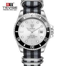 TEVISE Automatic Mechanical Watches Men Fashion Sports Canvas Waterproof Business Wristwatch Clock Fashion Watch Malaysia