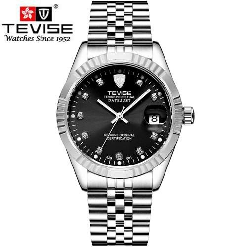 TEVISE Men Mechanical Watches Calendar Automatic Watch Men Diamond Business Causal Male Watches Luxury Waterproof Wristwatches