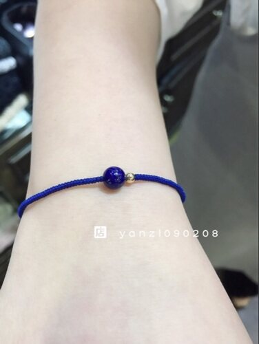 The handicraft weaves a prosperous wealth to protect peaceful protect health to turn too year old azure stone lovers men and women style the gold just knotted a bracelet
