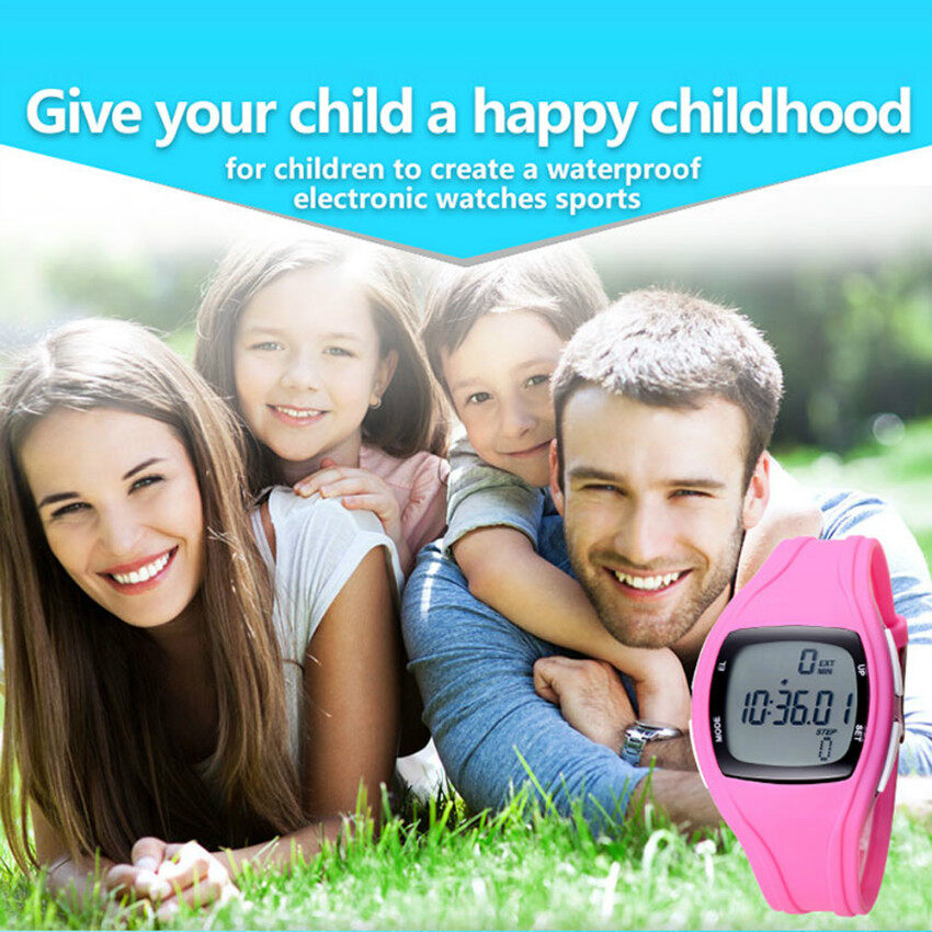 BOFENG SMART Cute kid watch The High Quality TTLIFE Childrens Primary School Students Colorful Sports Digital Pedometer Waterproof Luminous Watch(pink) Malaysia