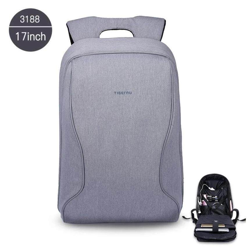 Tigernu 17 Inches Fashion Business Casual Laptop Backpack For 12 15 6 Inches Laptop Men Backpack Silver Grey Intl Deal