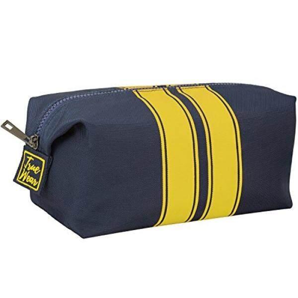 09f539989448 Toiletry Bag Shaving Dopp Kit for Men Navy Blue with Yellow stripes –  Stylish Unique Travel