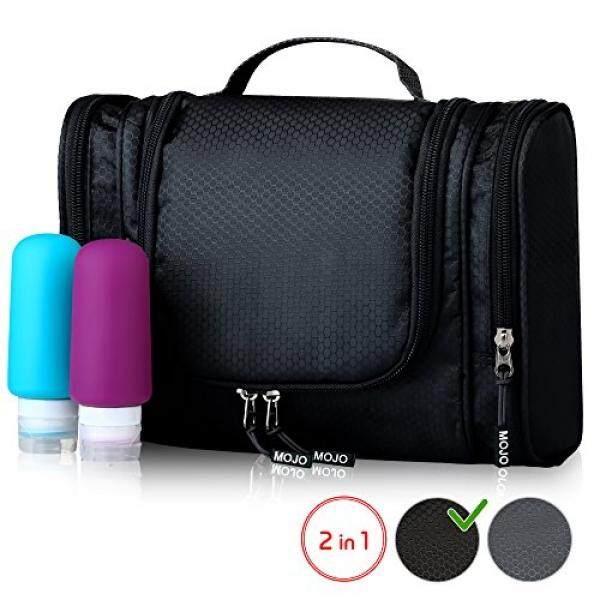 23f2c78bce15 Toiletry Kit - Hanging Toiletry Bag + Travel Bottles Set - Shower Bag for  Men