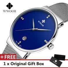WWOOR Top Brand Luxury Mens Watch Waterproof Date Clock Male Sports Watches Men Quartz Casual Wrist Watch Blue Malaysia
