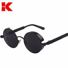 978d356620235 Top Designed Brand Gothic Steampunk Sunglasses Coating Mirrored Sunglass  Round Circle Sun glasses Vintage UV400 Sunglasses