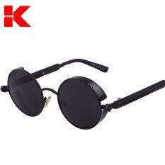 0770f133c0495 Top Designed Brand Gothic Steampunk Sunglasses Coating Mirrored Sunglass  Round Circle Sun glasses Vintage UV400 Sunglasses