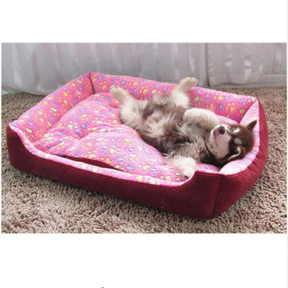 Top Quality Large Breed Dog Bed Sofa Mat House 3 Size Cot Pet BedHouse for large dogs Big Blanket Cushion Basket Supplies Rose