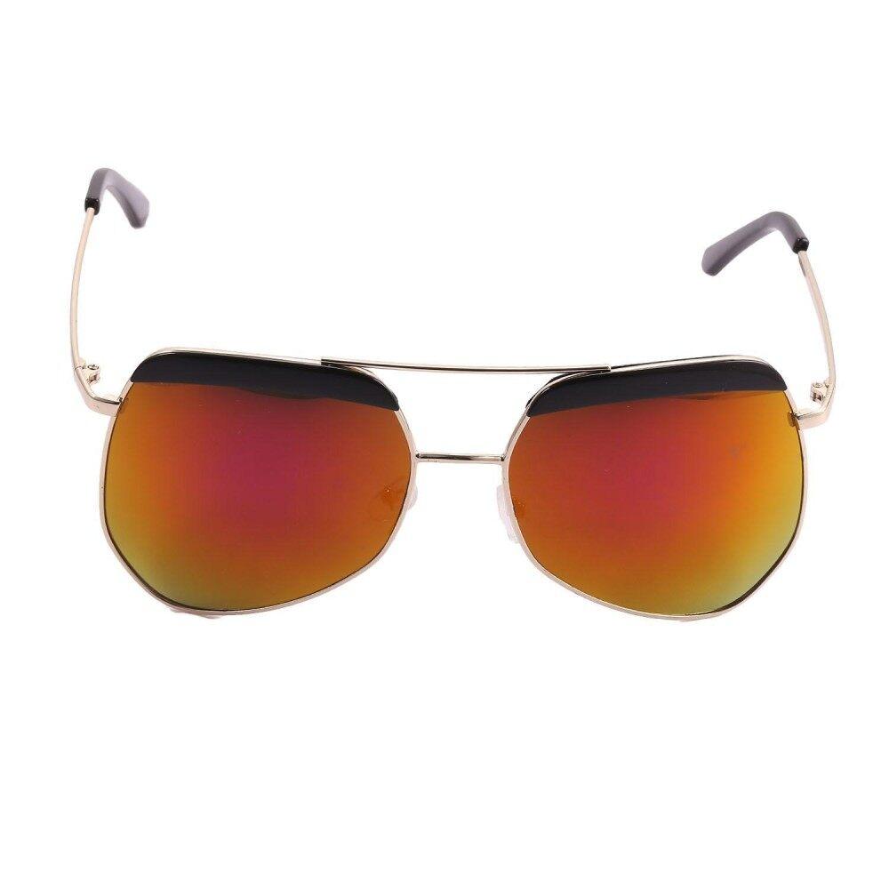 551599a18d12 Big Discount Hot Fashion Retro Men Women Unisex Oval Mirror Lens Metal  Frame Uv Protection Sunglasses