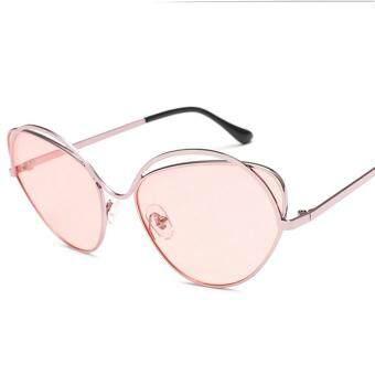 Toprank Unisex Women Men Fashion Vintage Style Oval Sunglasses UV400