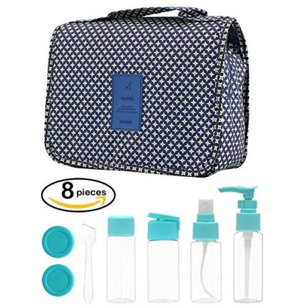 ac6efbe98b70 Travel Cosmetic Bag+Plastic Bottles Set Waterproof Portable Makeup Pouch- Travel Kits for Men