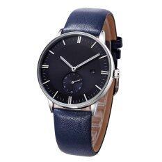 TTLIFE Luxury Brand Genuine Leather Strap Mens Fashion&Casual Date Quartz Waterproof Watch(blue) Malaysia