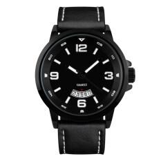 TTLIFE Luxury Brand Mens Business Genuine Leather Band Quartz Watch(black) Malaysia