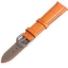 Twinklenorth 20mm Orange Genuine Leather Watch Strap Band Malaysia