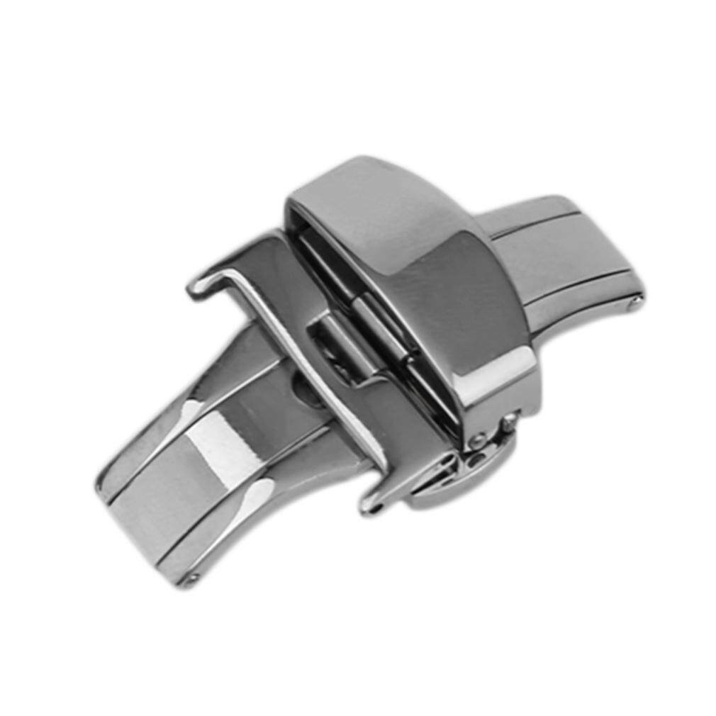 UINN 20mm Metal Watch Buckle Double Folding Butterfly Deployment Clasp - intl bán chạy