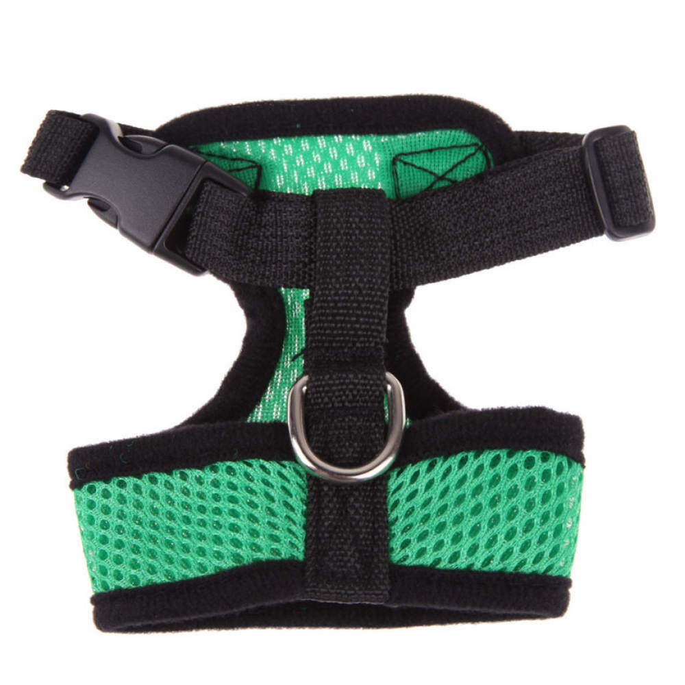 Ujs Soft Mesh Dog Harness Pet Puppy Cat Clothing Vest Green L By Qjq Store.
