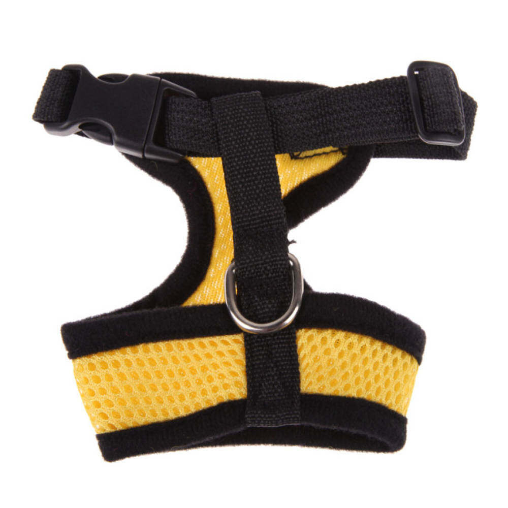 Ujs Soft Mesh Dog Harness Pet Puppy Cat Clothing Vest Yellow Xl By Qjq Store.
