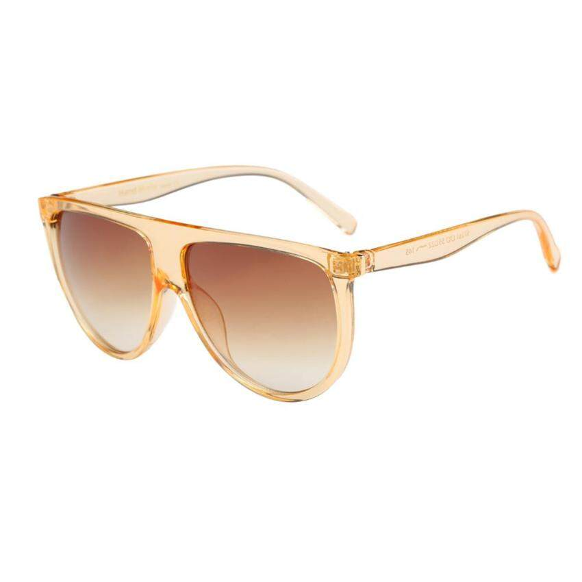 Unisex Fashion Twin-Beam Bingkai Besar Penuh Kacamata Hitam Serasi (Kopi) 3ae8ef864b