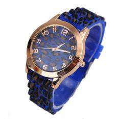 Unisex Geneva Leopard Silicone Jelly Gel Quartz Analog Wrist Watch Gold BU Malaysia