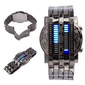 Uniseks Matrix Jam Tangan Digital 28 LED Jam Tangan Gelang Perhiasan Timepiecefor Pria Wanita-Internasional