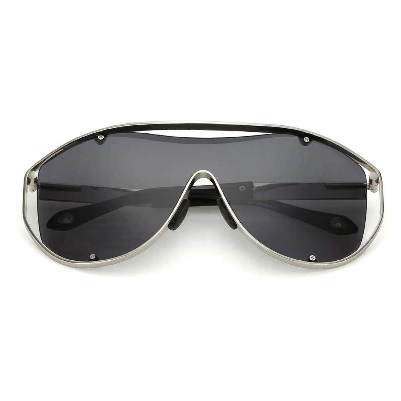 Uniseks Pria Wanita Terlalu Besar Oval Kacamata Hitam Mode Retro Gradient  Lensa Cermin . 5b512cfe6e