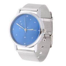 Unisex Quartz Watch Ultra Thin Dial Stainless Steel  Mesh Strap Wrist Watch Malaysia