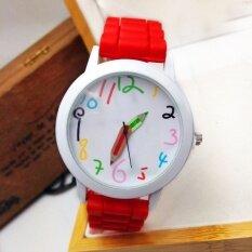 Unisex Silicone Quartz Sports Style Watch Women Jelly Wrist Watch  Red Malaysia