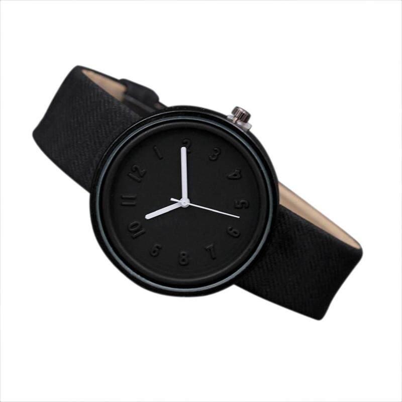 Unisex Simple Fashion Number Watches Quartz Canvas Belt Wrist Watch Malaysia