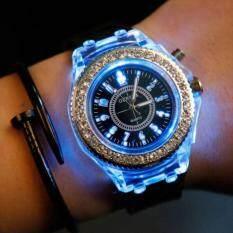 Unisex Women Men Geneva LED Backlight Crystal Quartz Wrist Watch Waterproof Malaysia