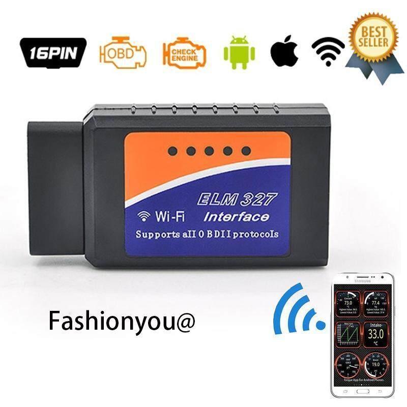V1.5 ELM327 WIFI/Bluetooth OBD2 OBDII Alat Diagnostik Elm 327 PIC18F25K80 Wifi Nirkabel untuk Android/IOS Pembaca Kode