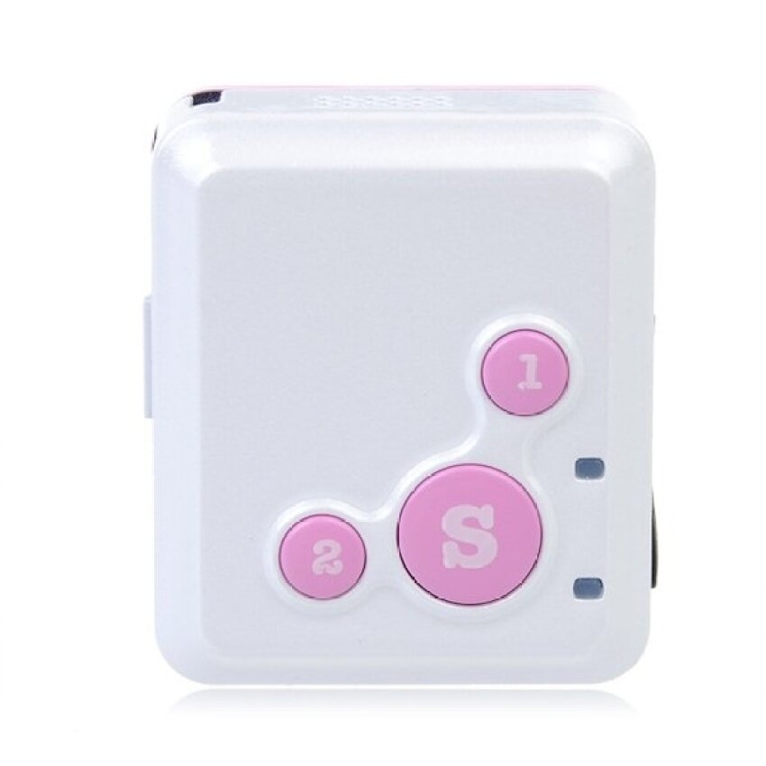 V16 Mini Personal Locator GPS Real Time Tracker SOSCommunicatorDualTalk (Pink)
