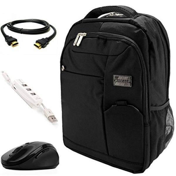VanGoddy Jet Black Executive Anti-Theft Laptop Backpack w/ 3PC Accessory Bundle for Lenovo IdeaPad / Yoga / Flex / ChromeBook / ThinkPad / Legion / 11-15inch - intl