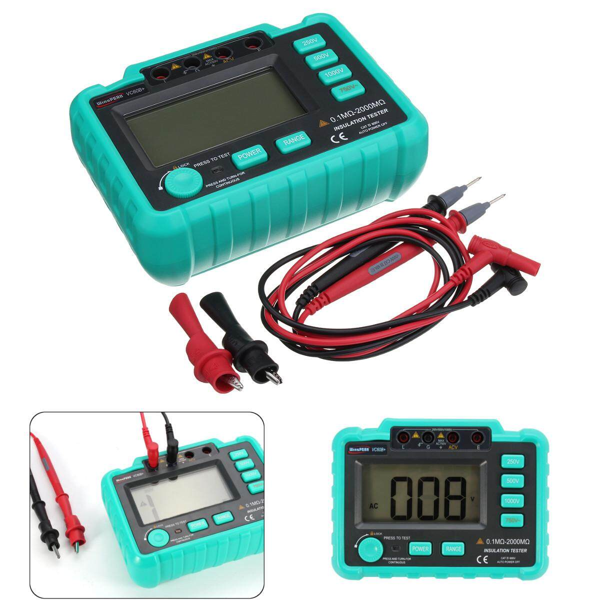 Electrical Testers Test Leads Buy Portable Ac Voltage Pencil Non Contact Voltmeter Circuit Detector Vc60b Digital Insulation Resistance Tester Megger Megohm Meter 250 500 1000v Intl