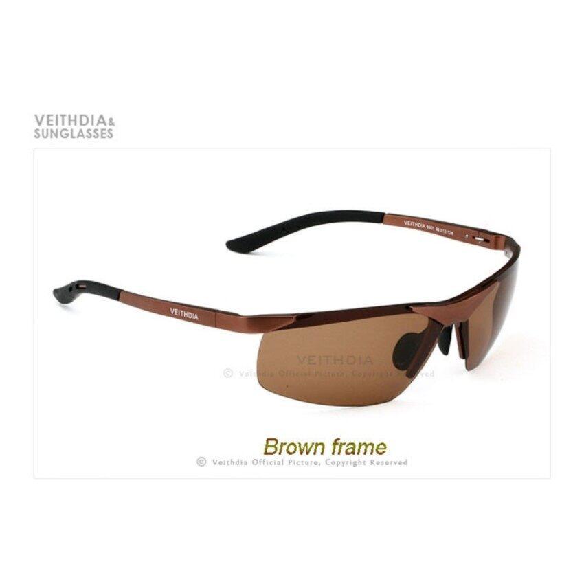 VEITHDIA Aluminium Magnesium Terpolarisasi Lensa Pria Kacamata Hitam Driver Cermin Matahari Kacamata Pria