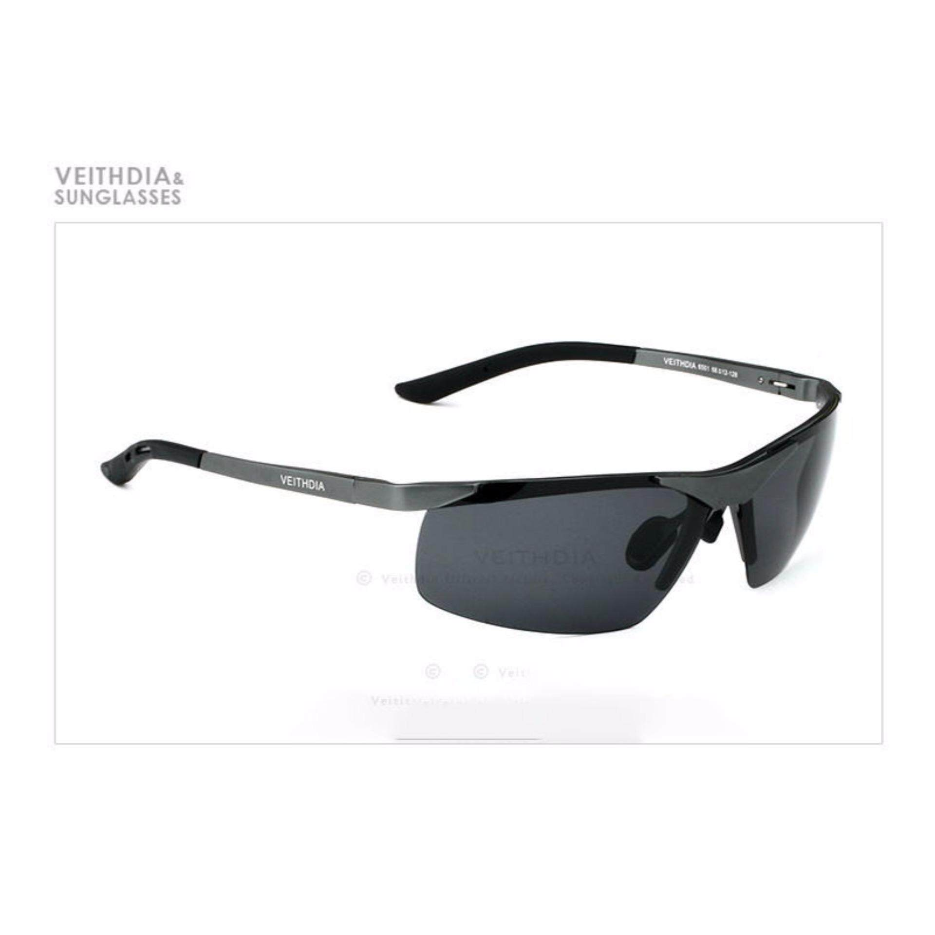 VEITHDIA Aluminium Magnesium Kacamata Hitam Terpolarisasi Laki-laki Olahraga Matahari Kacamata Malam Vision Kaca Spion