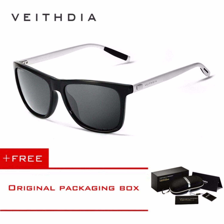 MYR 56 Yuxin Mall VEITHDIA Brand Unisex Retro Aluminum TR90 Sunglasses Polarized Lens Vintage Eyewear Accessories